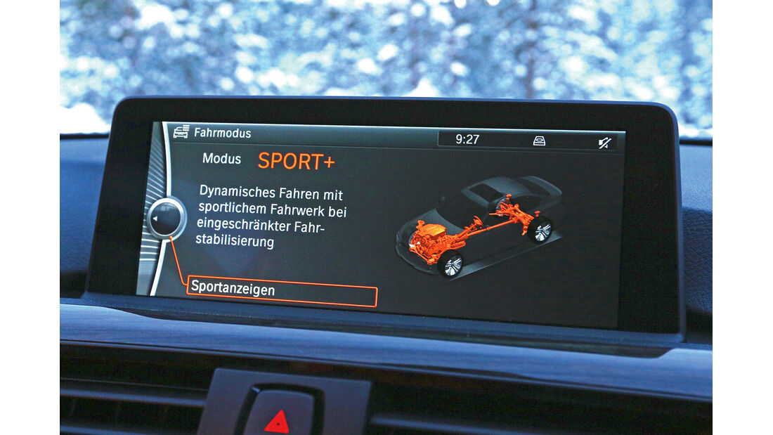 BMW 335i x-Drive, Display, ESP