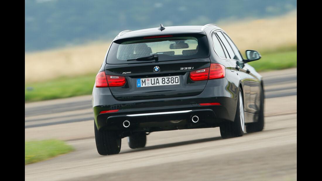 BMW 335i xDrive Touring, Heckansicht