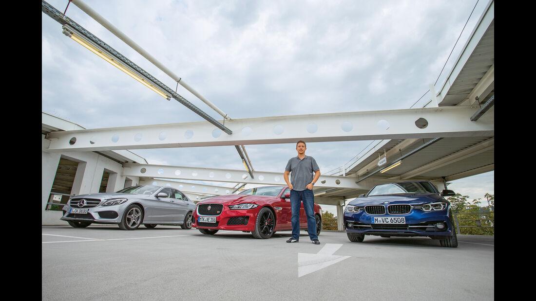 BMW 340i, Jaguar XE S, Mercedes C 400 4Matic, Jens Dralle