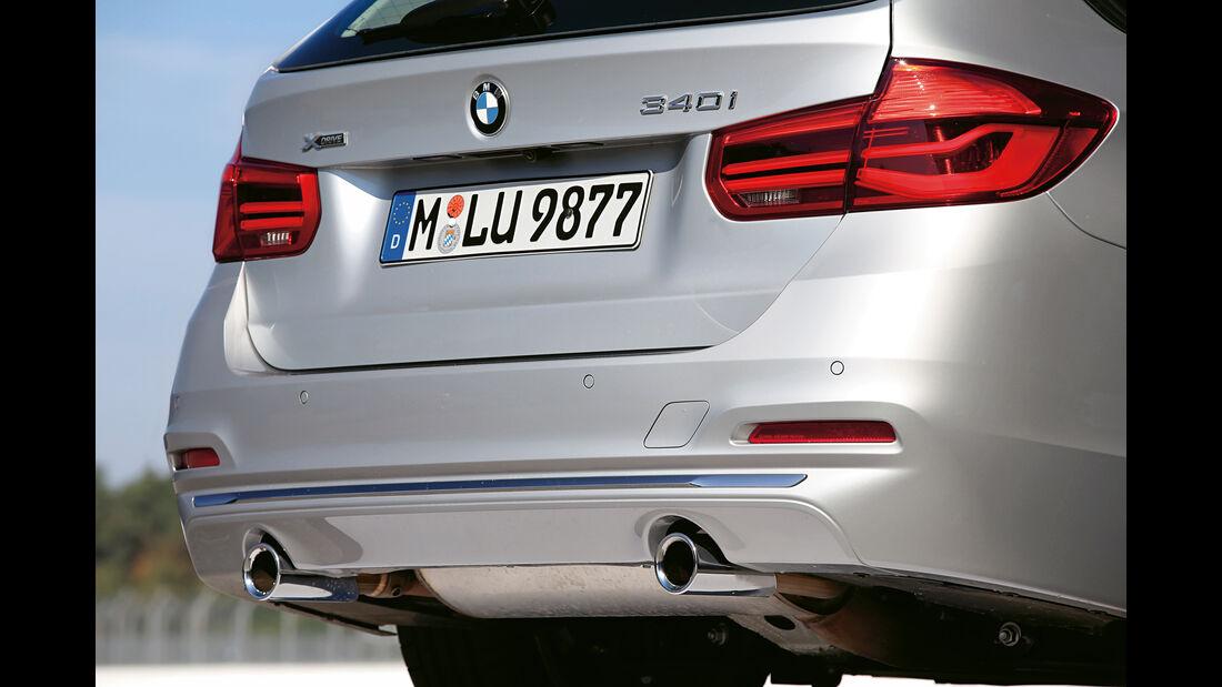 BMW 340i xDrive Touring, Endrohre