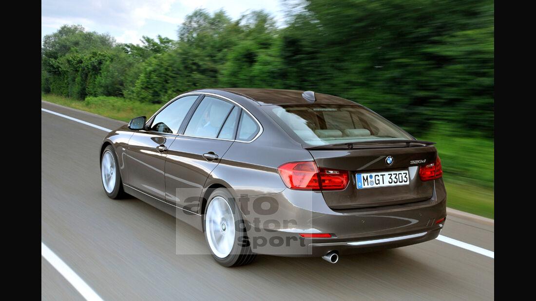 BMW 3er GT Retusche