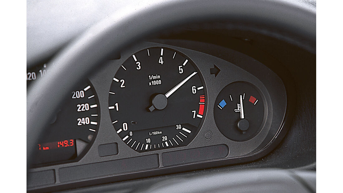 BMW 3er-Reihe E36, Rundinstrumente