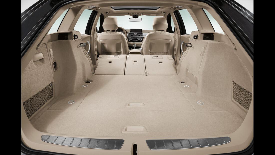 BMW 3er Touring, Kofferraum, Rückbank