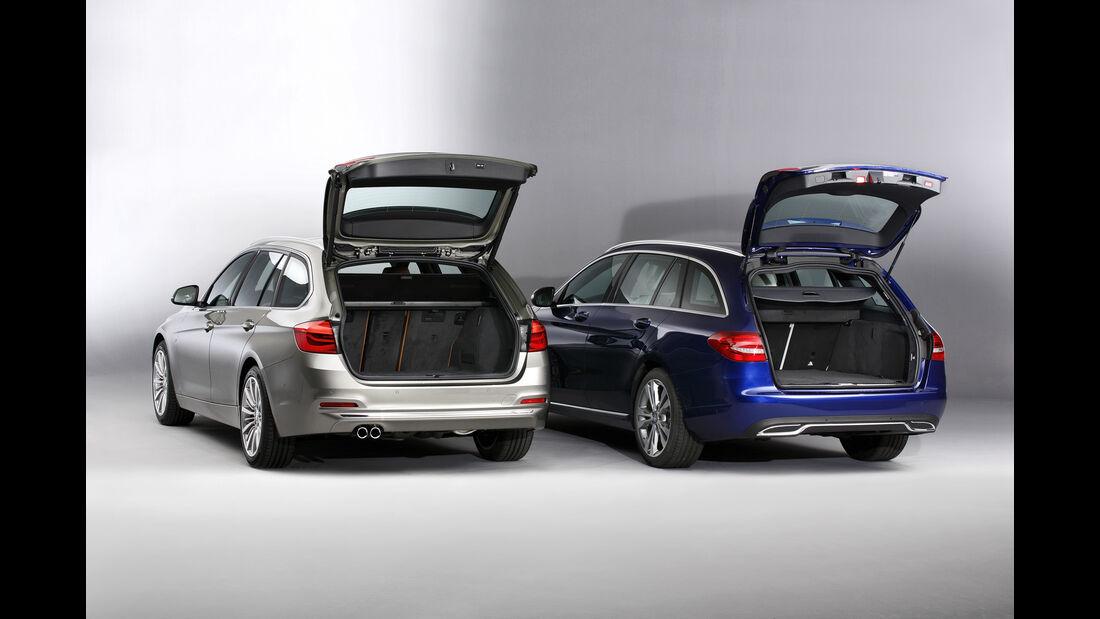 BMW 3er Touring, Mercedes C-Klasse T, ams1115
