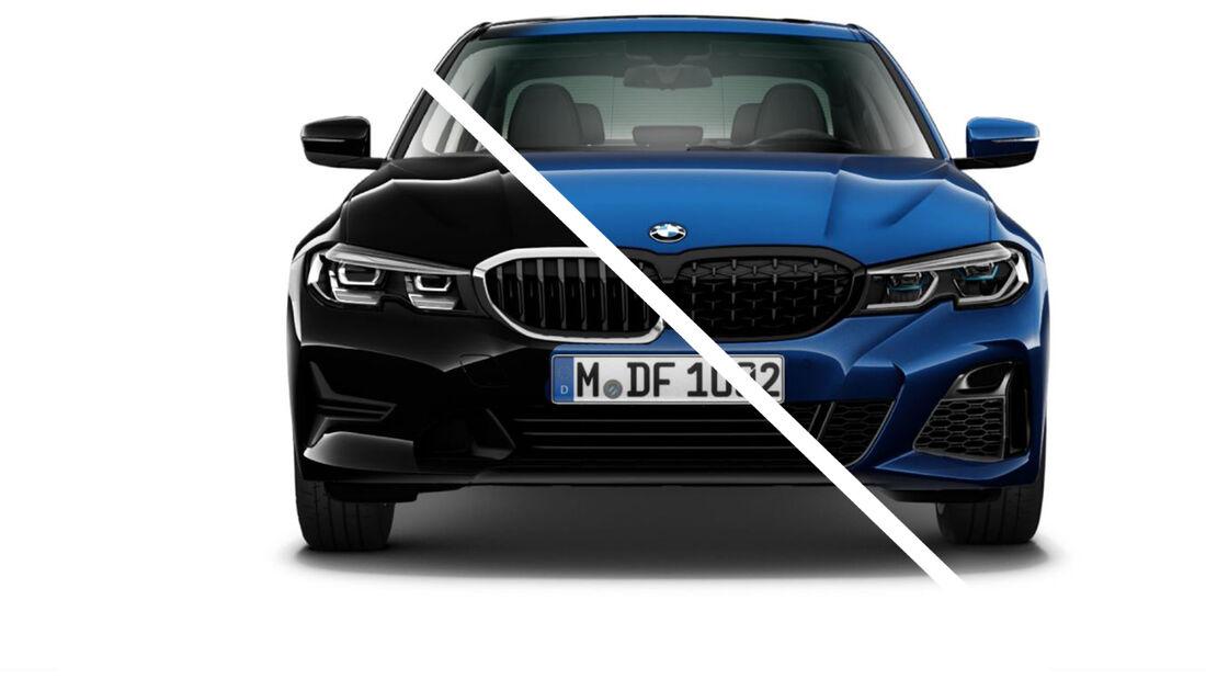 BMW 3er Vergleich Basis Vollausstattung