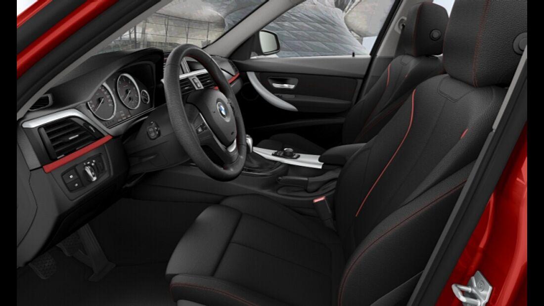 BMW 3er im Konfigurator, Sport Line, Innenraum