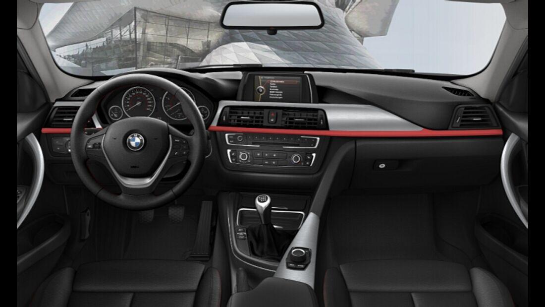 BMW 3er im Konfigurator, Sport Line, Innenraum, Cockpit