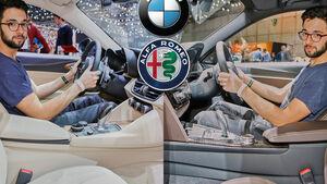 BMW 3er vs. Alfa Romeo Giulia, Genf 2016, Teaser