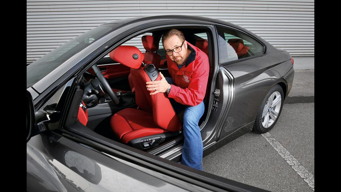 BMW 420d Coupé, Aussteigen