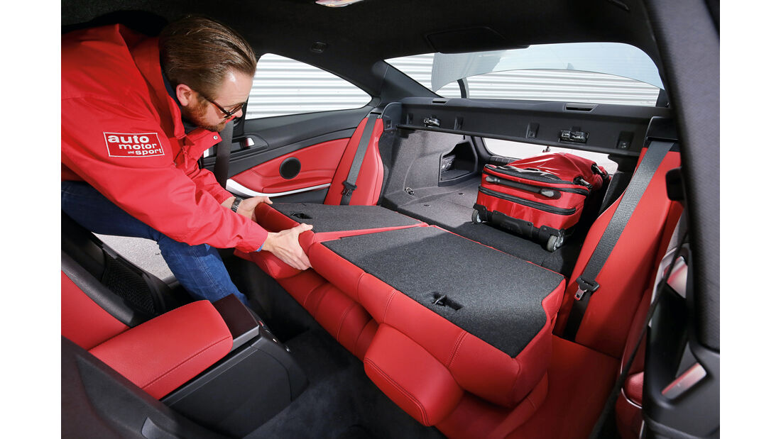BMW 420d Coupé, Fondsitz, Umklappen