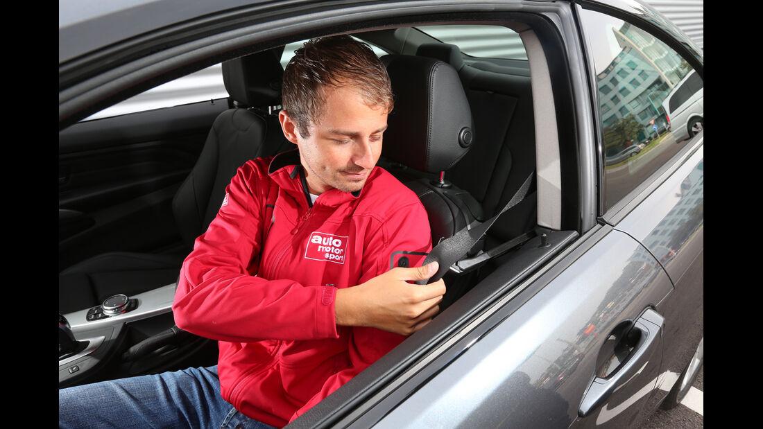 BMW 420d, Fahrersitz, Angurten
