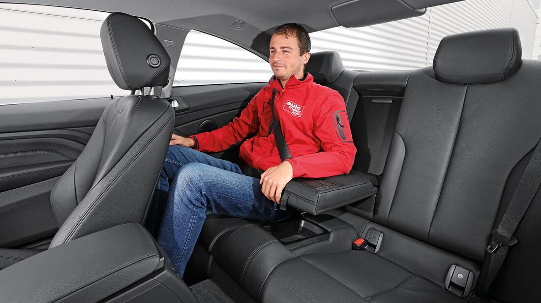 BMW 420d, Fondsitz, Beinfreiheit