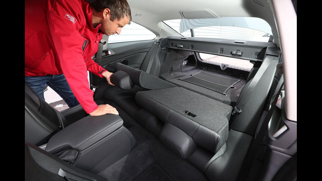 BMW 420d, Rücksitz, Umklappen