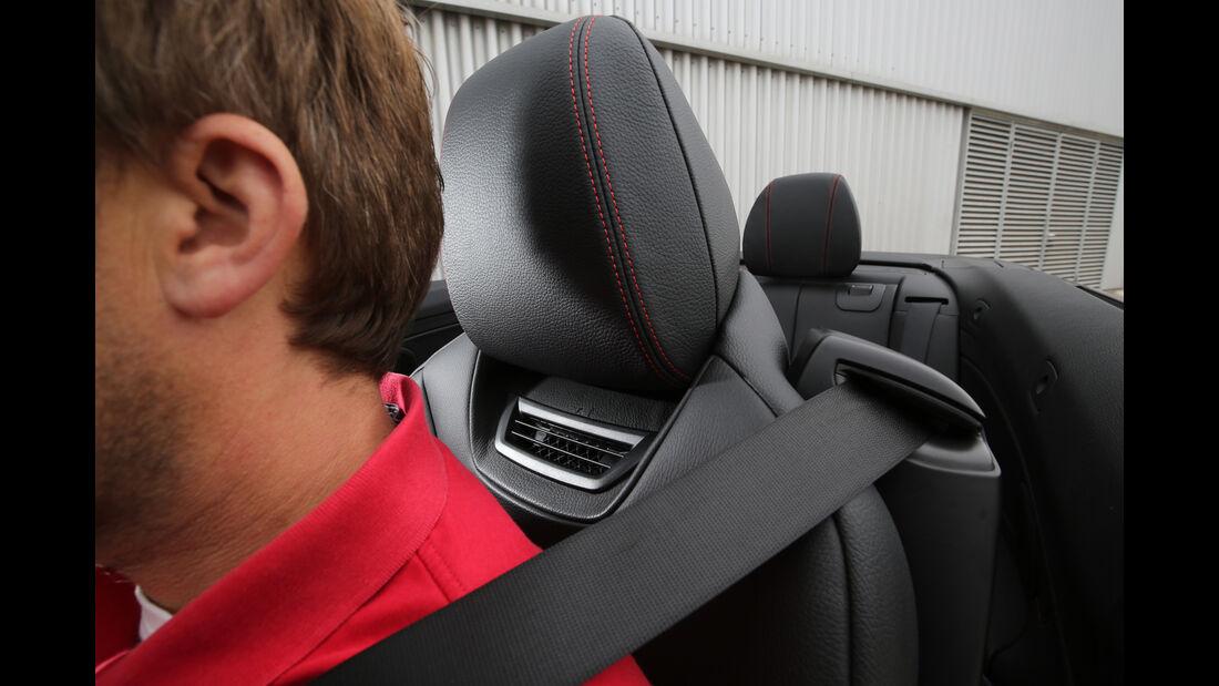 BMW 420i Cabrio, Nackenfön