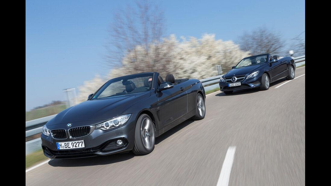 BMW 428i Cabrio, Mercedes E 300 Cabrio, Frontansicht