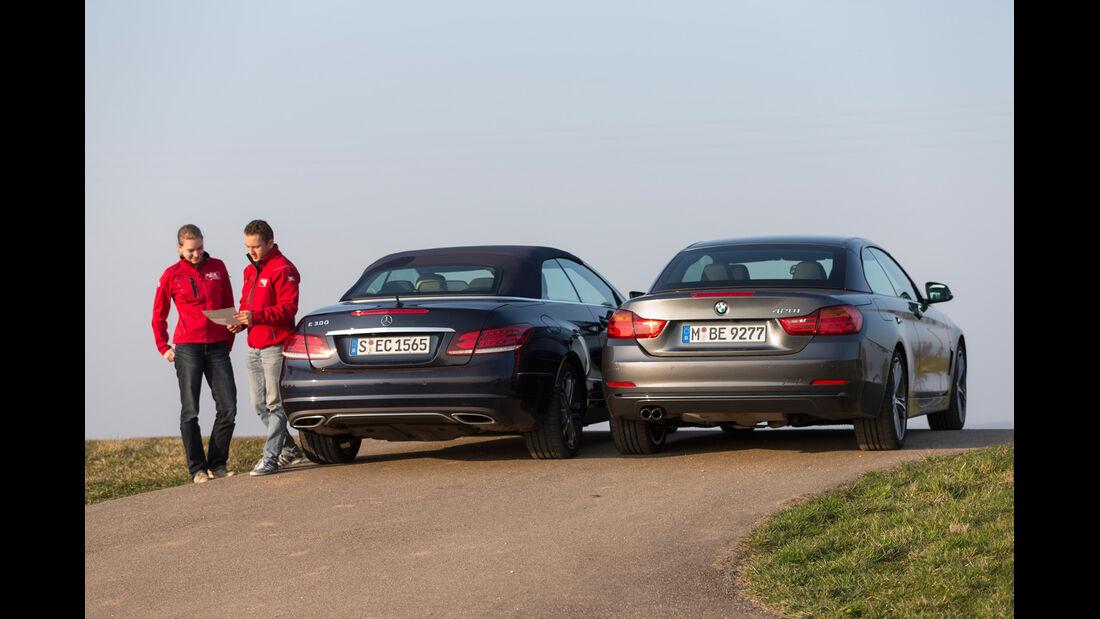 BMW 428i Cabrio, Mercedes E 300 Cabrio, Heckansicht