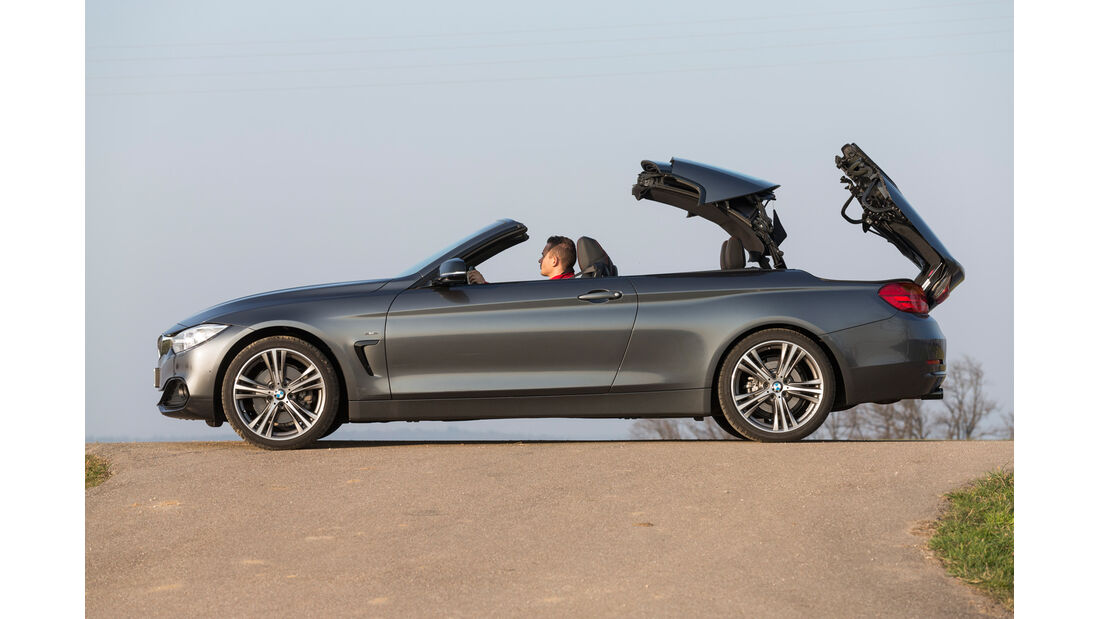 BMW 428i Cabrio, Verdeck öffnet