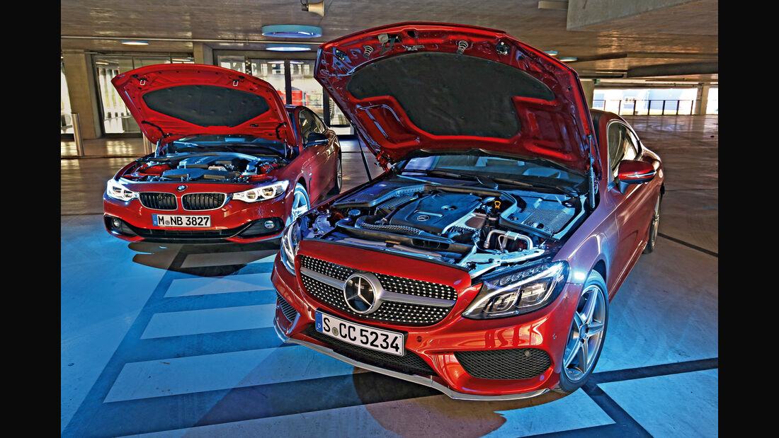 BMW 428i Coupé, Mercedes C 300 Coupé, Motor