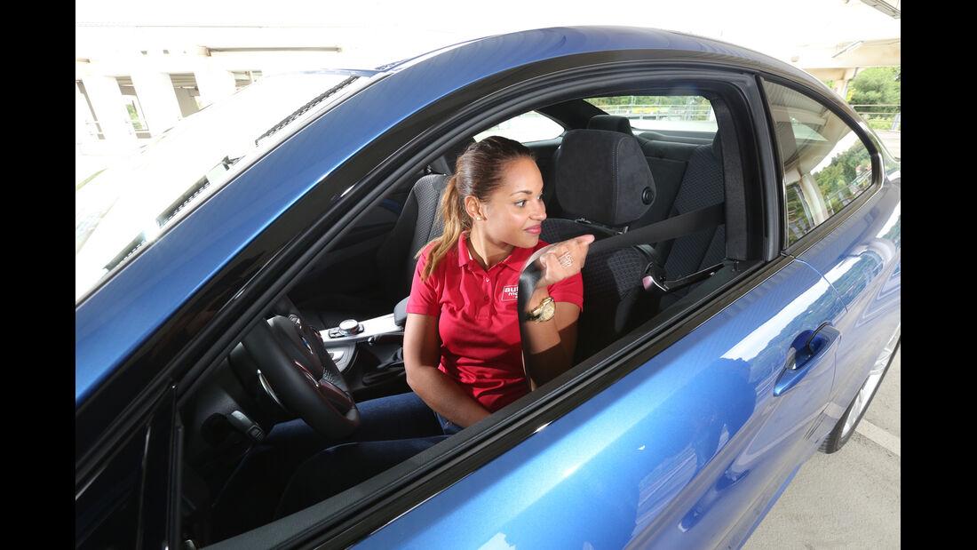 BMW 428i, Frontsitz, Angurten