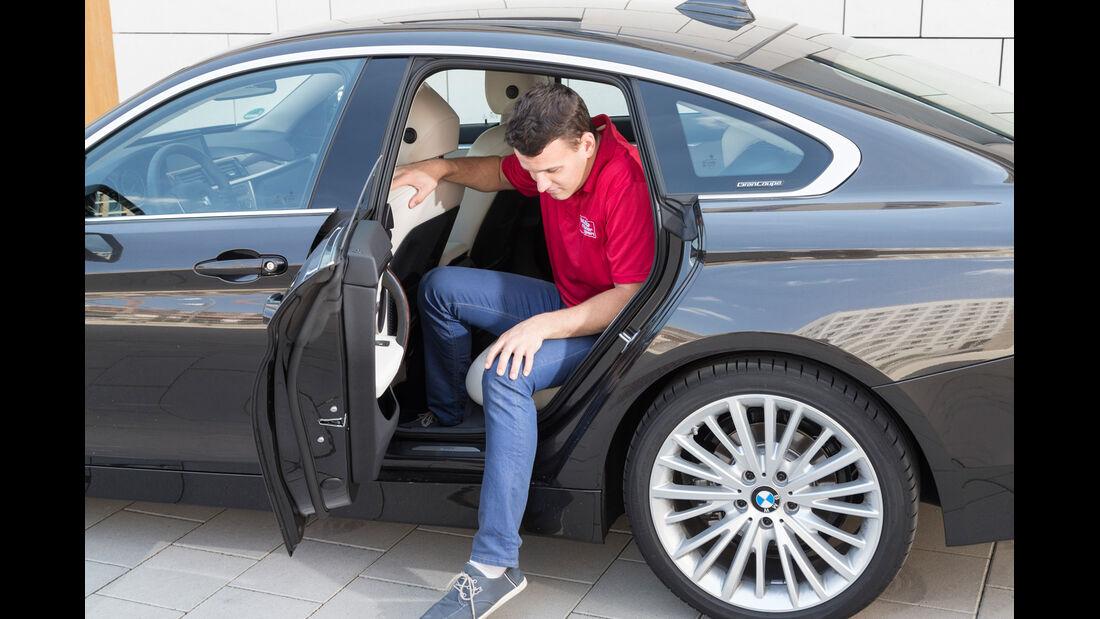 BMW 428i Gran Coupé, Fondsitz, Beinfreiheit