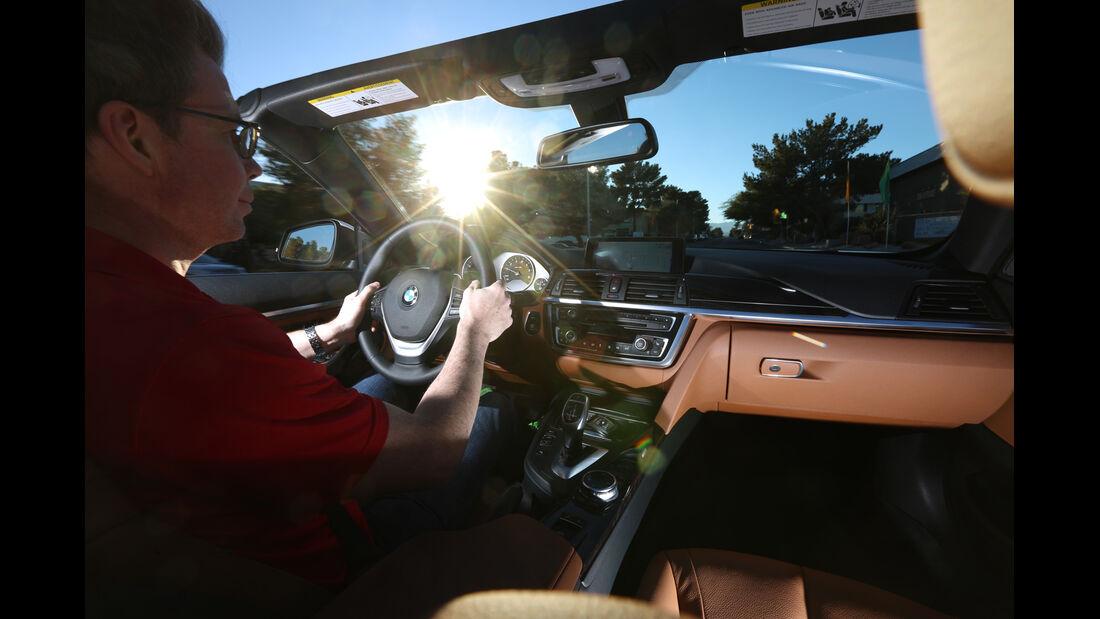 BMW 435i Cabrio, Cockpit, Fahrersicht