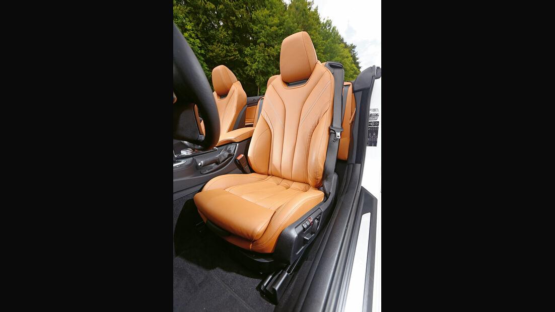 BMW 435i Cabrio, Fahrersitz