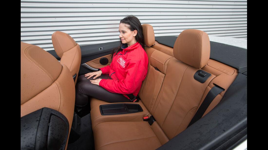 BMW 435i Cabrio Luxury Line, Fondsitz, Beinfreiheit