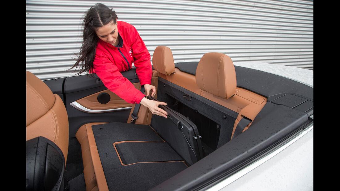 BMW 435i Cabrio Luxury Line, Fondsitz, Umklappen