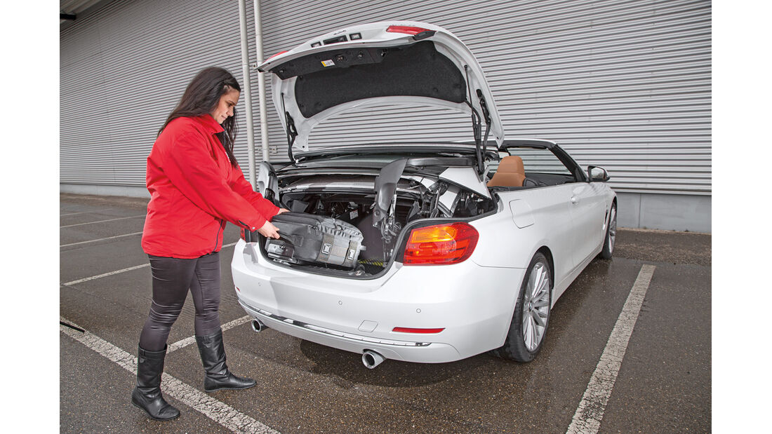 BMW 435i Cabrio Luxury Line, Kofferraum