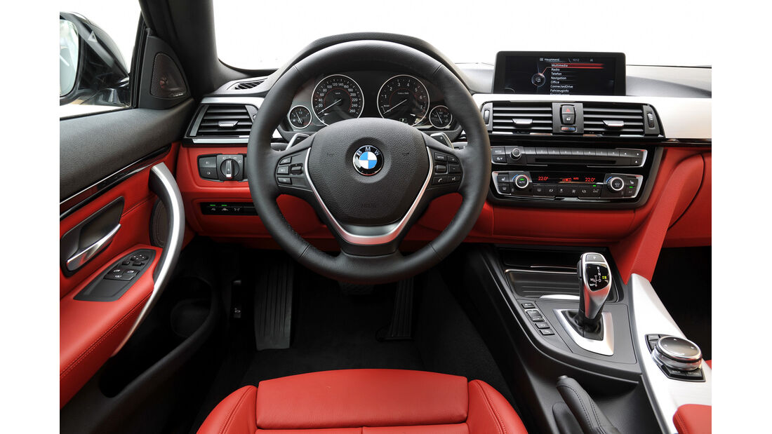 BMW 435i Coupé, Cockpit, Lenkrad