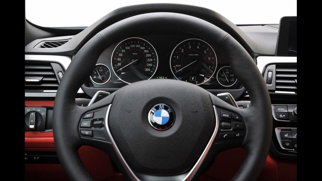 BMW 435i Coupé, Lenkrad, Rundinstrumente
