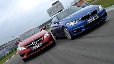 BMW 435i Coupé, Mercedes E 400 Coupé,