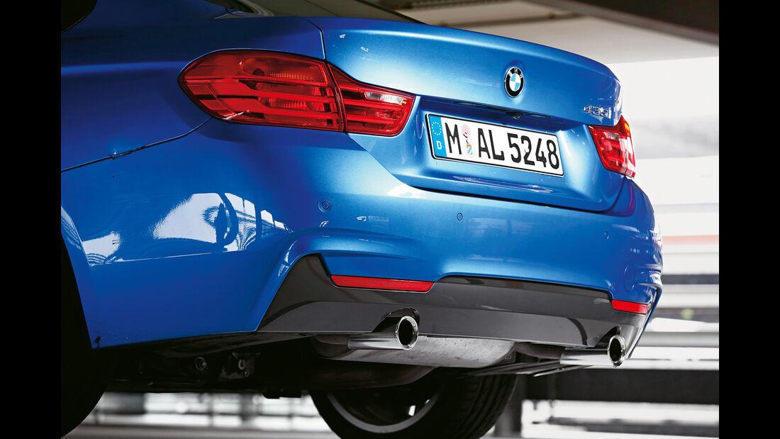BMW 435i Gran Coupé, Auspuff, Heck