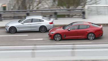 BMW 440i Gran Coupé xDrive Luxury Line, Kia Stinger 3.3 T-GDI GT, Exterieur