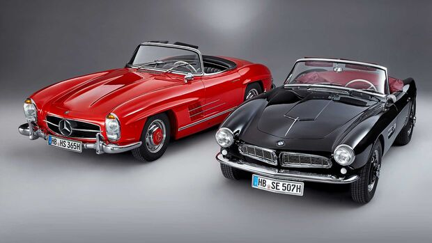 BMW 507 Mercedes 300 SL
