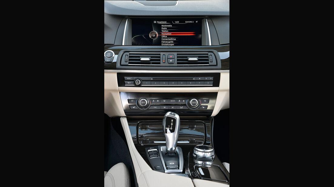 BMW 518d, Mittelkonsole