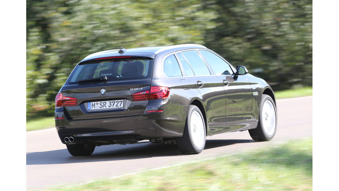BMW 518d Touring, Heckansicht