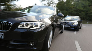 BMW 518d Touring, Mercedes E 200 CDI T, Frontansicht
