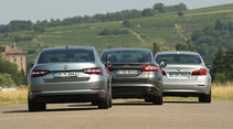 BMW 520d, Ford Mondeo 2.0 TDCI, Skoda Superb 2.0 TDI, Heckansicht