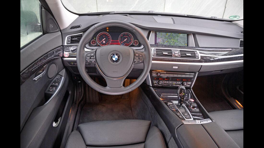 BMW 520d GT, Cockpit, Lenkrad