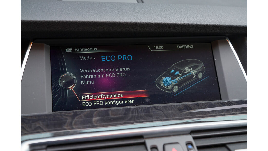 BMW 520d GT, Display, Fahreinstellung
