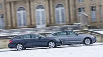 BMW 520d GT, Mercedes CLS 250 CDI SB, Seitenansicht