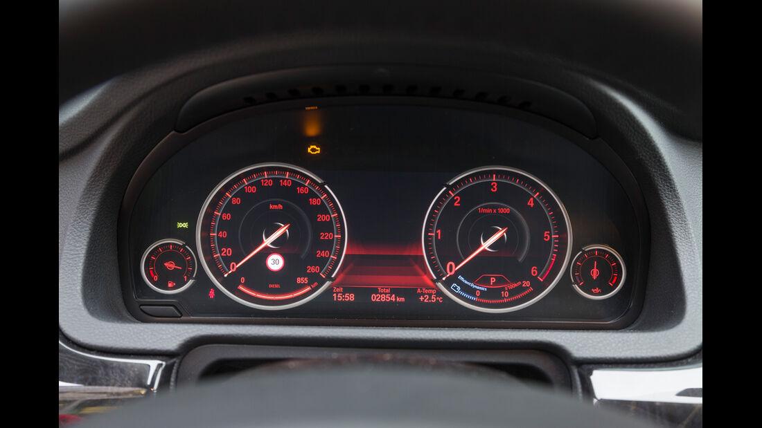 BMW 520d GT, Rundinstrumente, Tacho