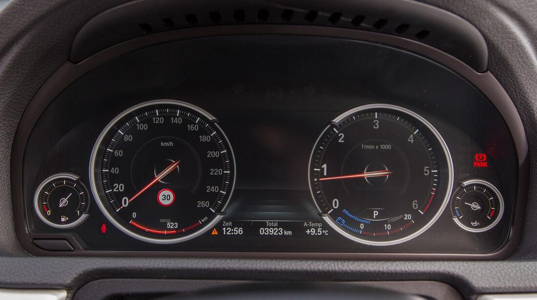 BMW 520d Gran Turismo, Rundinstrumente