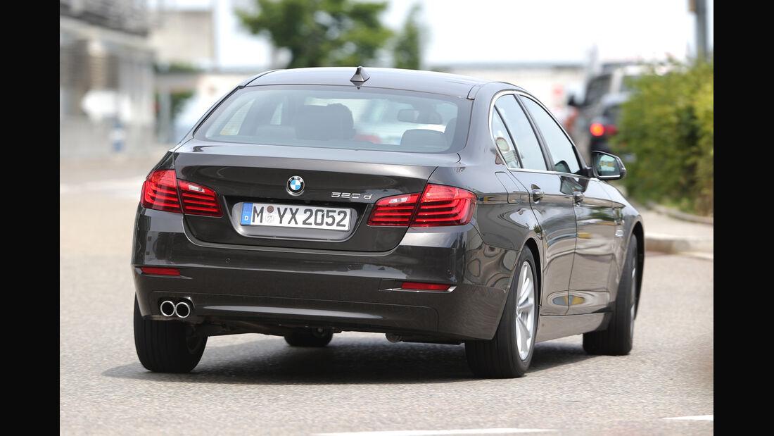BMW 520d, Heckansicht