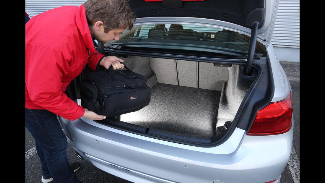 BMW 520d, Kofferraum