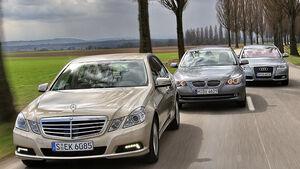 BMW 520d, Mercedes E 220 CDI, Audi A6 2.7 TDI