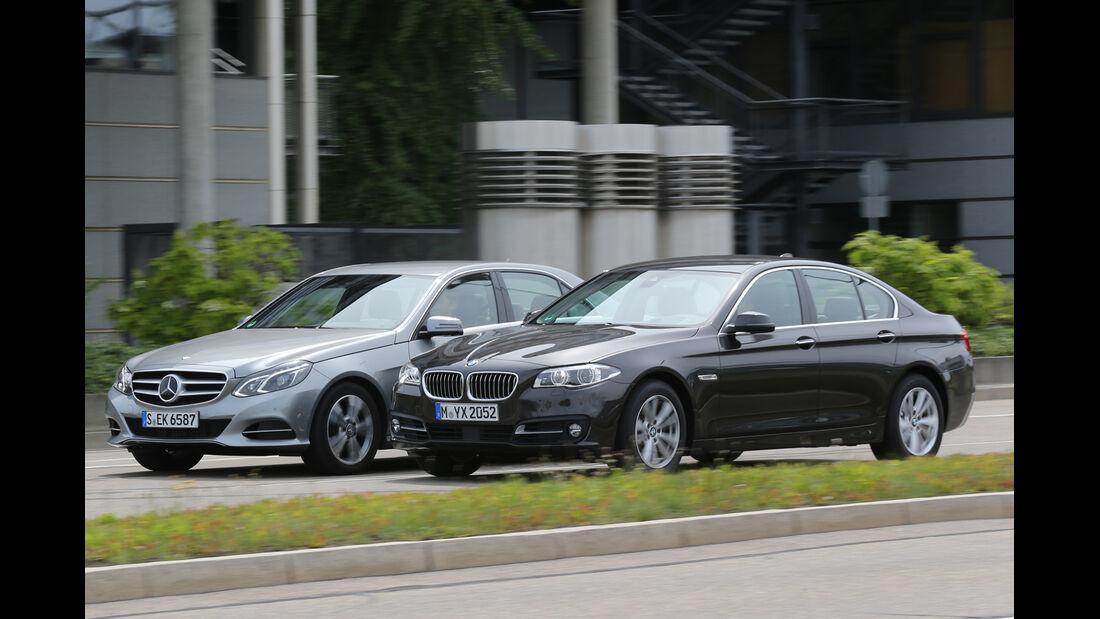 BMW 520d, Mercedes E 220 CDI, Seitenansicht