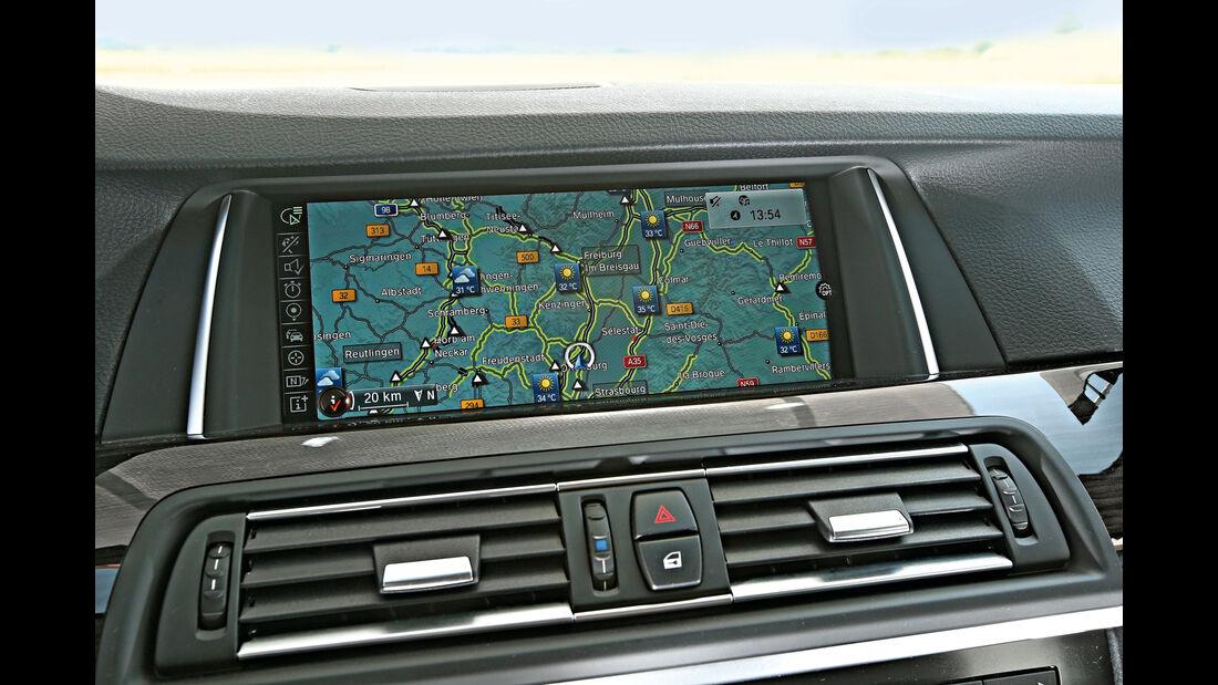 BMW 520d, Navi, Bildschirm