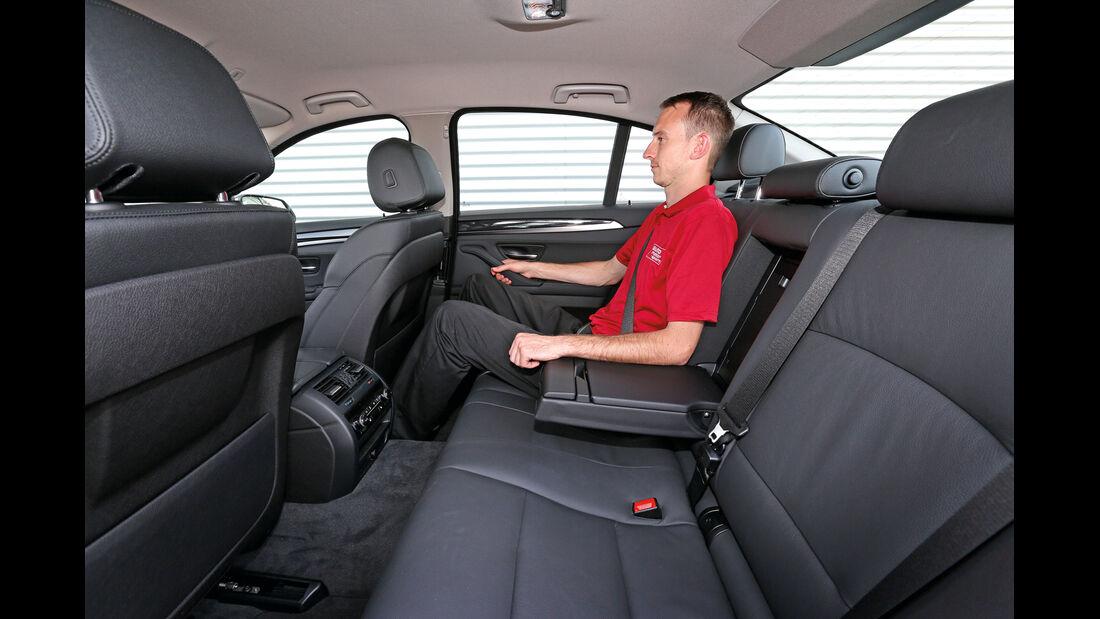 BMW 520d, Rücksitz, Beinfreiheit